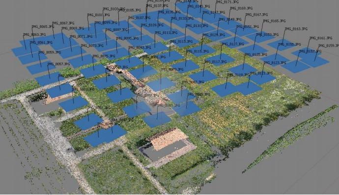 Figura 6 - Planejamento de voo. Fonte:  https://d1wqtxts1xzle7.cloudfront.net/51470586/Accuracy_of_cultural_heritage_3D_models_20170122-11533-nk501b.pdf?1485123175=&response-content-disposition=inline%3B+filename%3DAccuracy_of_cultural_heritage_3D_models.pdf&Expi