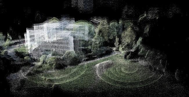 Figura 3 - Nuvem de pontos em softwares de fotogrametria digital. Fonte: https://www.flickr.com/photos/arselectronica/50224194023