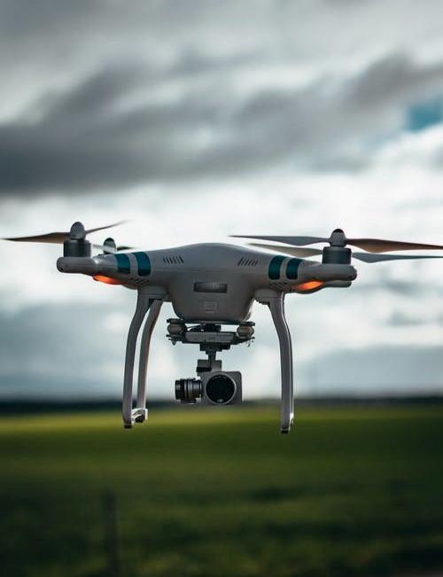Figura 4 - Mapeamento aéreo com drones.