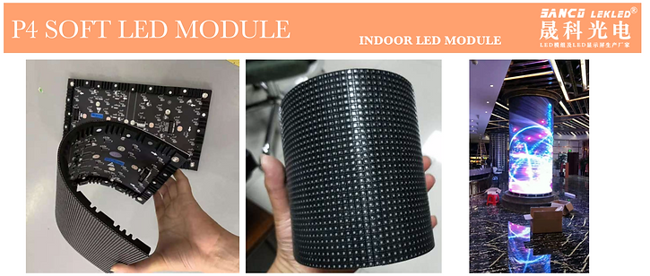 p4 soft led module for flexible led scre