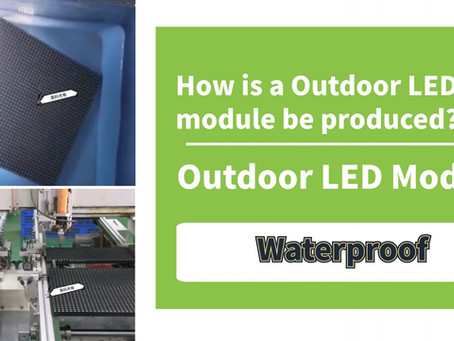 How is an outdoor LED module be produced? Why outdoor led module is more expensive than indoor?