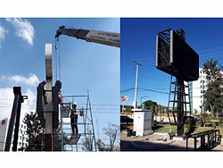 P8 Outdoor Double side Column LED Screen