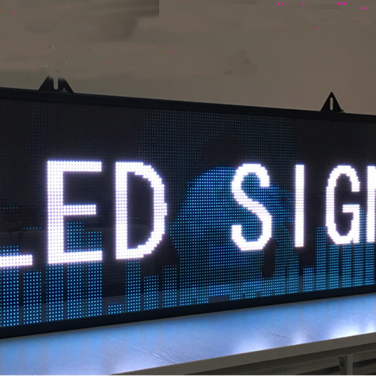 scrolling LED display P10 led signs yellow Panel Outdoor.png