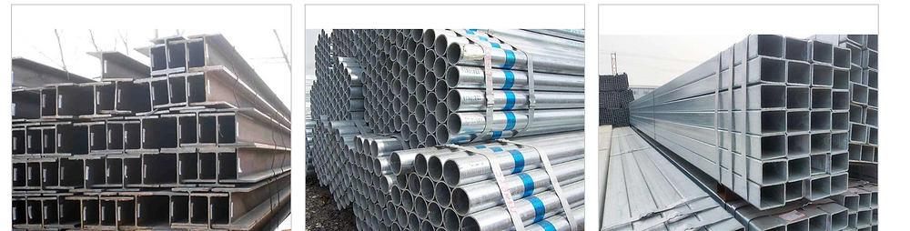 Steel tube for installation of led screen on the wall