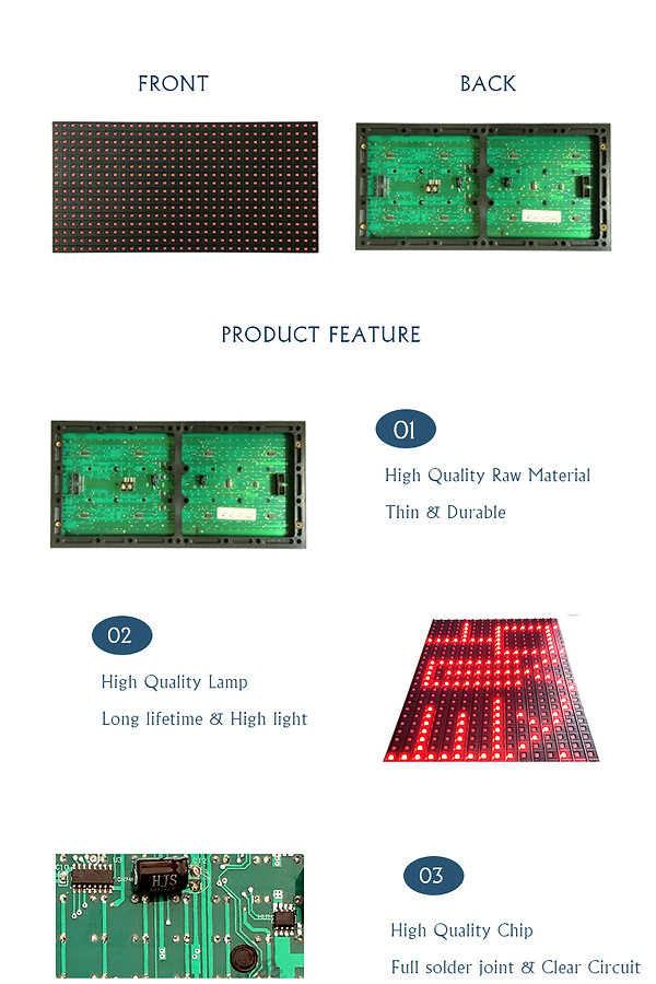 P10 SMD SINGLE RED 2835 LED MODULE FOR I
