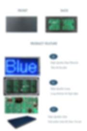 DIP P10 LED MODULE SINGLE BLUE FOR INDOO