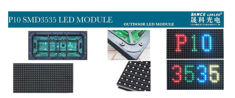 lekled p10 smd3535 led module parameters