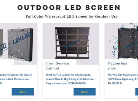 What are the charges for advertising on outdoor LED screen of varied sizes?