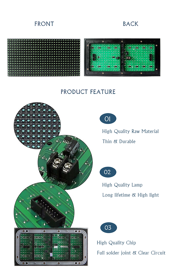 dip p10 led module single Green outdoor
