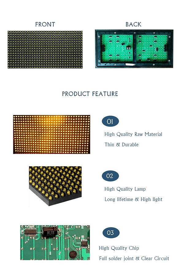 DIP P10 LED MODULE SINGLE YELLOW FOR IND