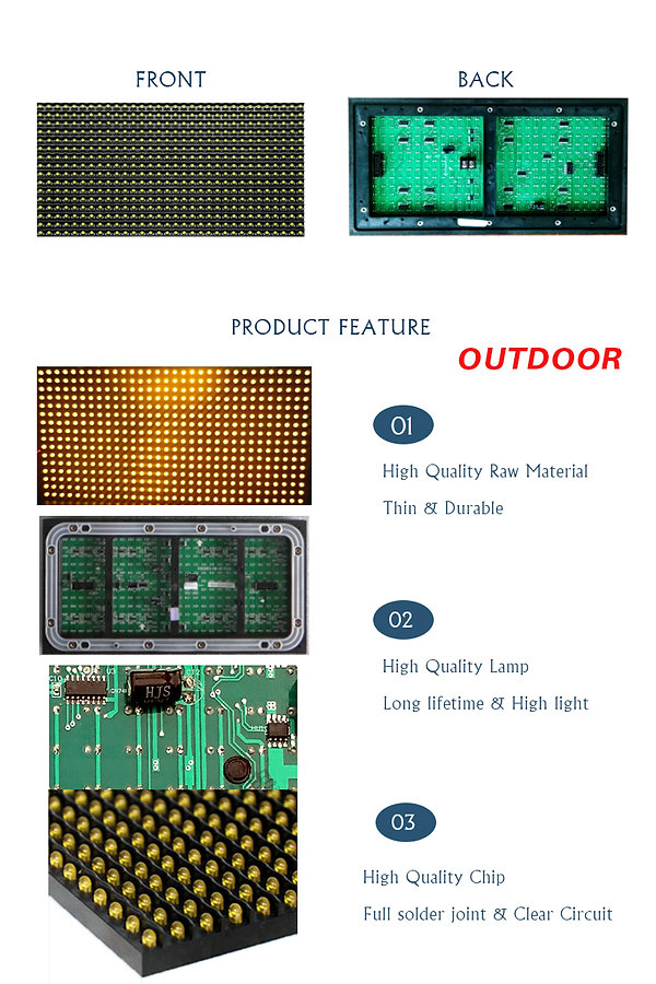 DIP P10 LED MODULE SINGLE YELLOW FOR out