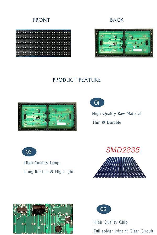 smd 2835 p10 led module single white for