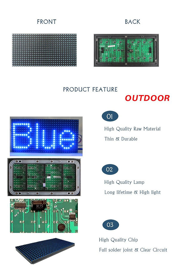 DIP P10 LED MODULE SINGLE BLUE FOR OUTDO