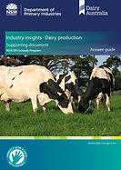 Dairy production Answer guide