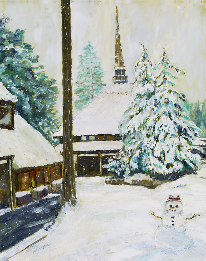Snowman at The Village