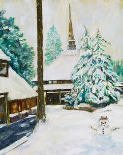 Snowman at The Village