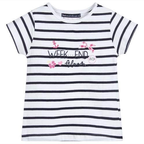 92c07d1642 Weekend a la Mer Origami Navy   White Stripe T-Shirt