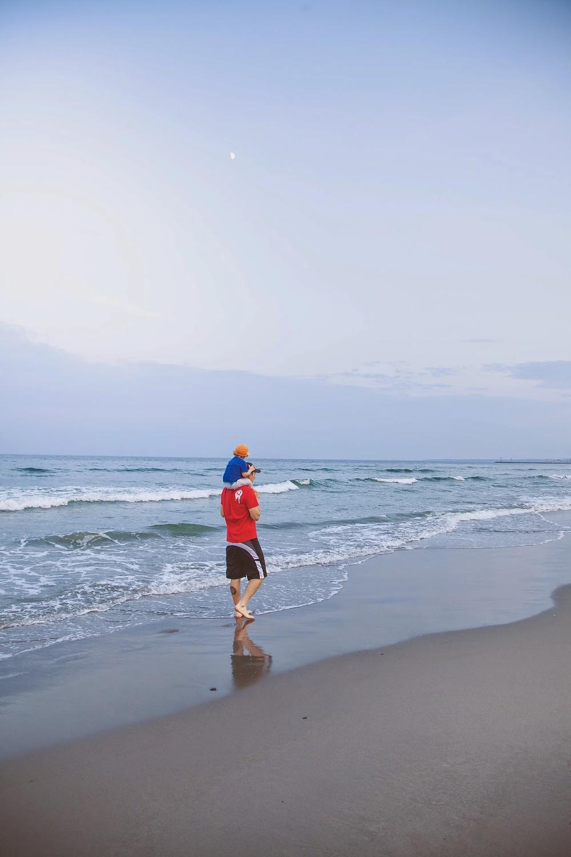 Une bonne promenade sur la plage avant d'aller dormir!
