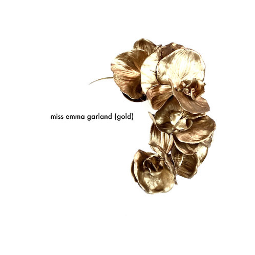 Miss Emma Orchid Garland (gold)