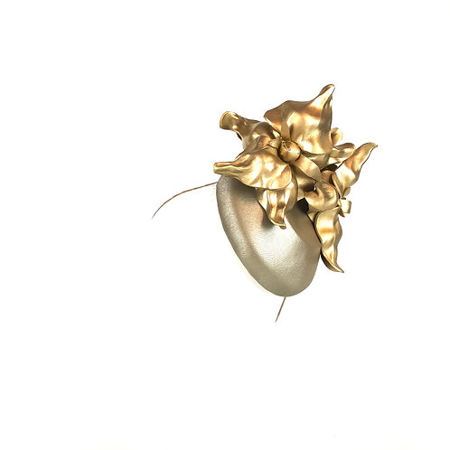 Miss Orchid Button (gold)