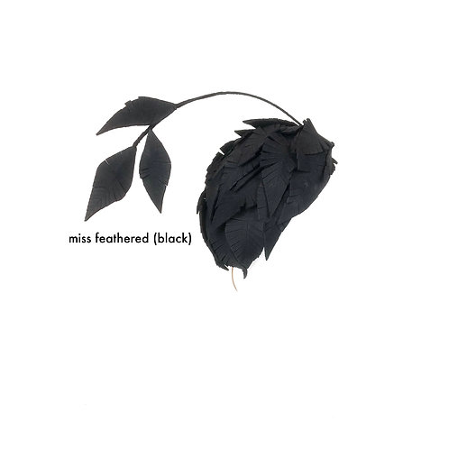 Miss Feathered (black)