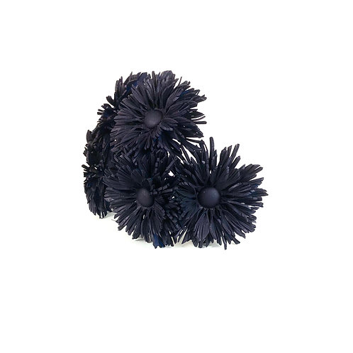 The Dahlia Ponytail Cage (navy)