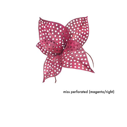 Miss Perforated (magenta / right)