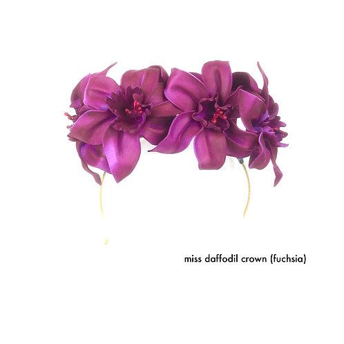Miss Daffodil Crown (fuchsia)