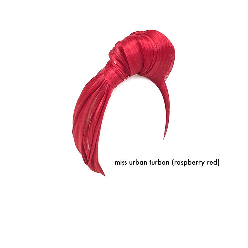Red Urban Turban (silk abaca)