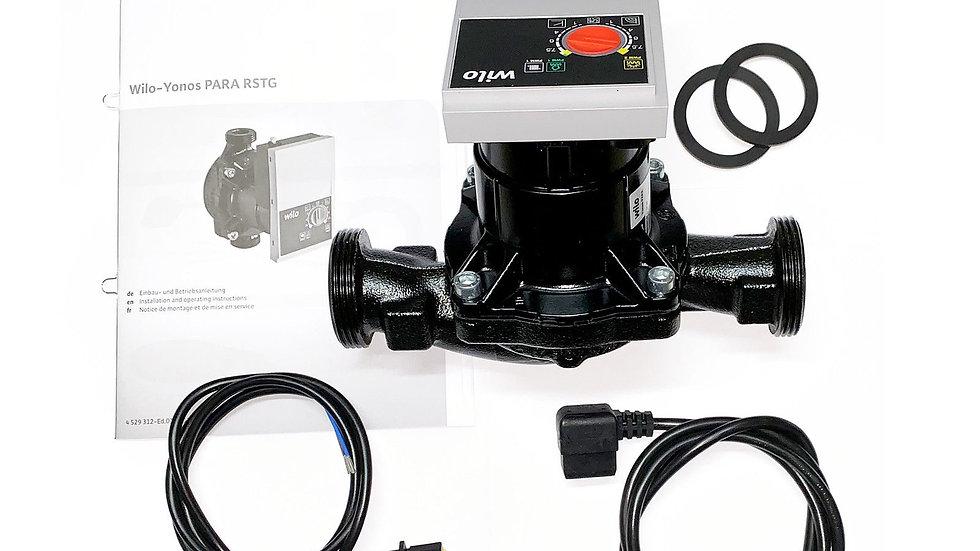 Wilo Yonos Para 25/7.5 pump and valves