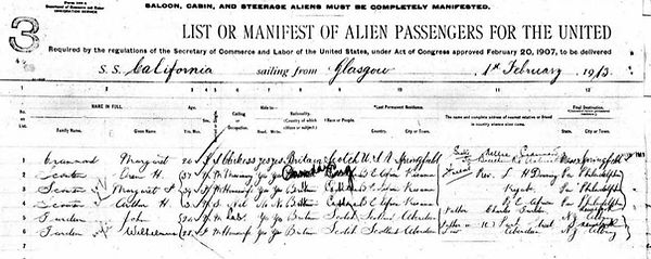A ship manifest is part of family history archives