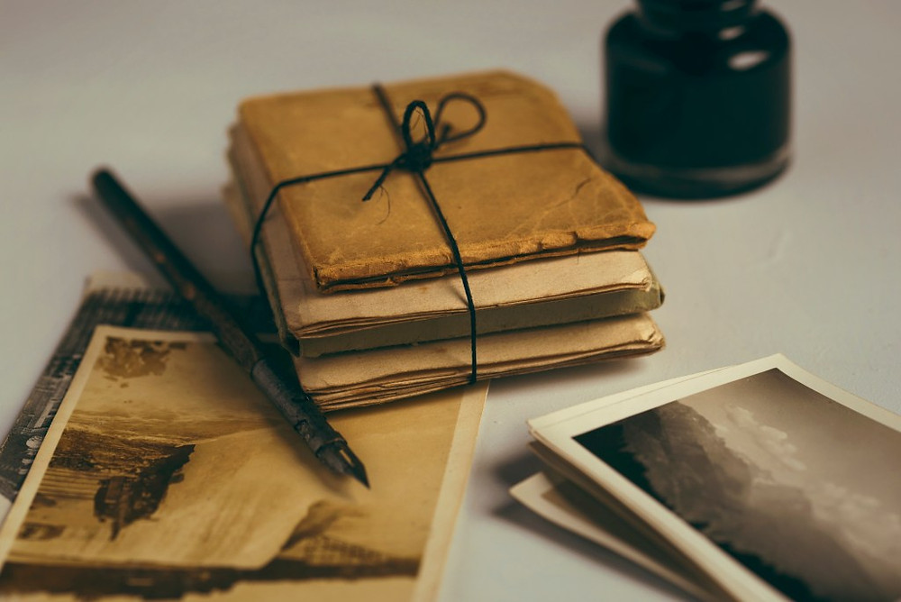 Diaries and letters are part of family history archives.