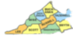 Photo of my service area displaying the counties in Southwest Virginia that I proivde my services.
