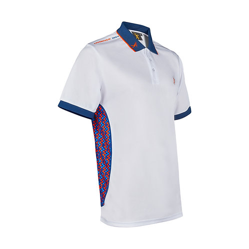 Contour Polo - White/Blue