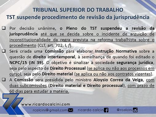 TST: Comissão vai propor instrução normativa sobre aplicação da reforma trabalhista