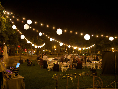 Great Outdoor Lighting for events
