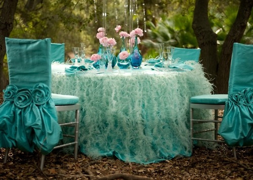 teal wedding style photo shoot