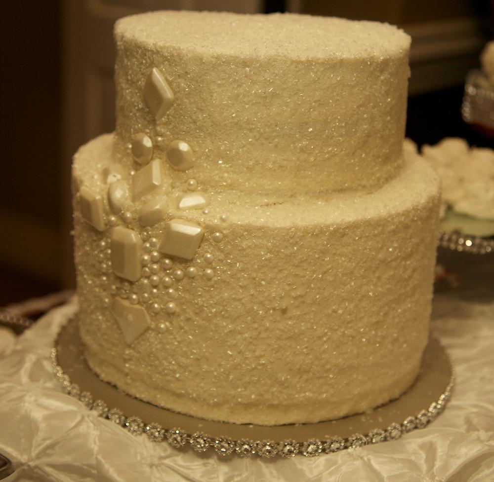 Winter glitter cakes