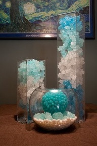 rock candy centerpieces