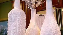 How to create crystalized vases for your wedding