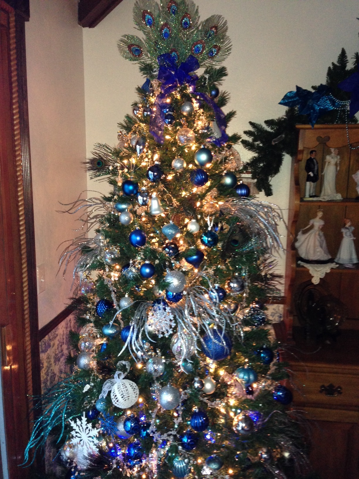 Blue, white & silver Christmas tree 3- Party Planner Denver.JPG