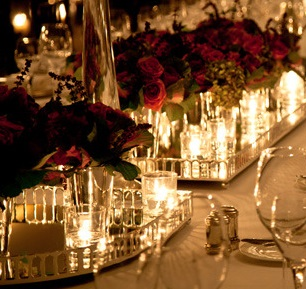 flowers & candles tablescapes
