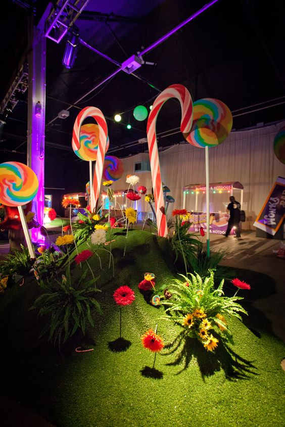 Willy Wonka theme party, corporate event