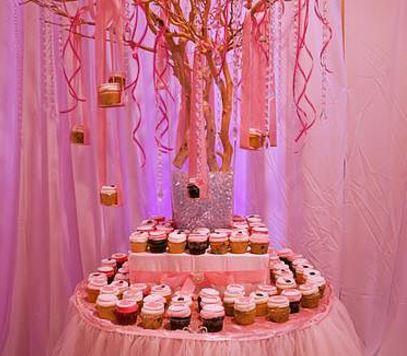 Pink dessert station