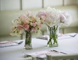 sweetpea table centerpieces