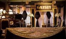 Gatsby decor - event decor divas