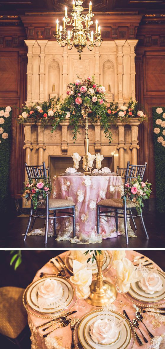 Sweet heart tables with major focal points