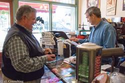 Gene at the register