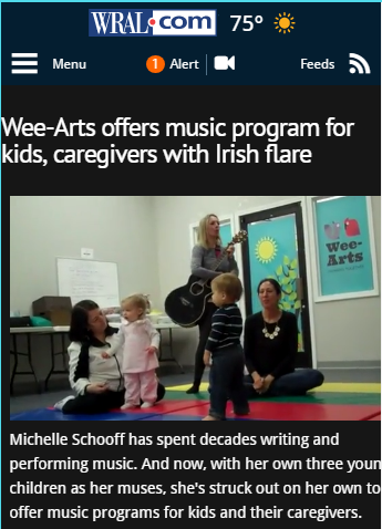 Michelle Schoof Wee Arts music program for kids, caregivers with Irish flare