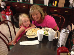 Vicky and granddaughter